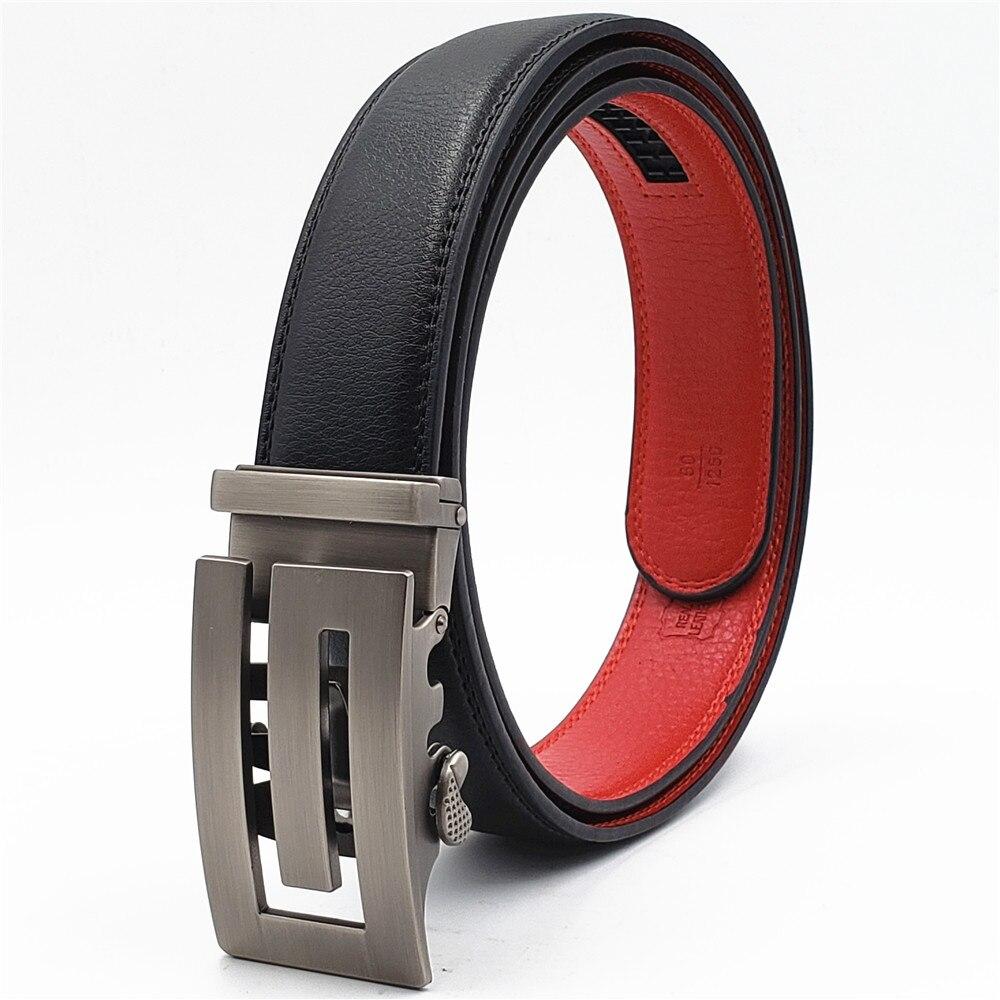 2019 New Luxury Brand Male Genuine Leather Strap Belts For Men Designer Fashion Belt Automatic Buckle Black Belts Cummerbunds in Men 39 s Belts from Apparel Accessories