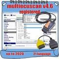 2020 горячая Распродажа MultiEcuScan V4.6 зарегистрированный неограниченный мультиэбу сканер для Fiat может работать с ELM327