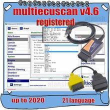 2020 venda quente multiecuscan v4.6 registrado ilimitado multi ecu varredura para fiat pode trabalhar com elm327