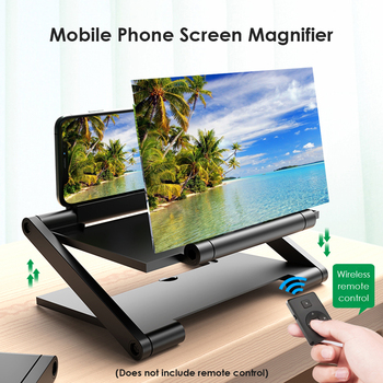 8 Inch Mobile Phone 3D Screen Amplifier Video Screen Magnifier Folding Enlarged Smartphone Movie Amplifying Projector Stand 1