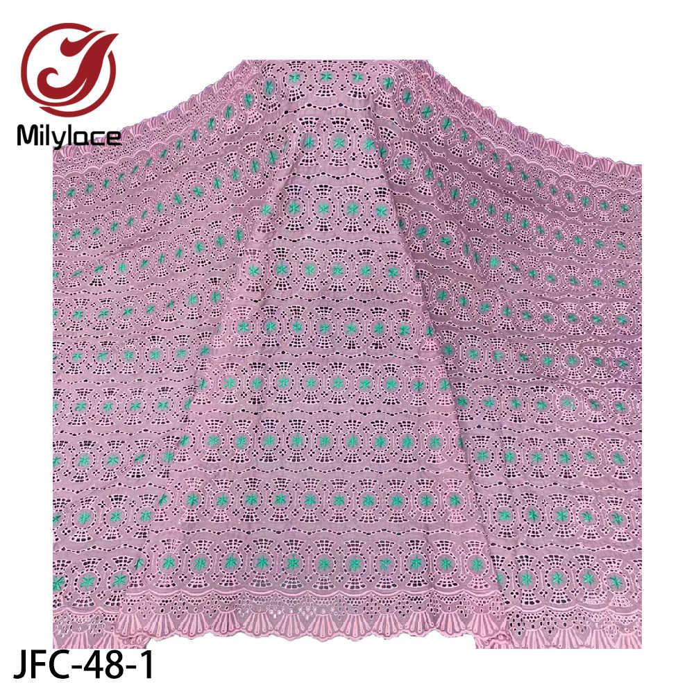 Milylace африканская хлопчатобумажная Кружевная Ткань 5 ярдов нигерийская швейцарская вуаль кружева в Швейцарии с камнями для вечернего платья