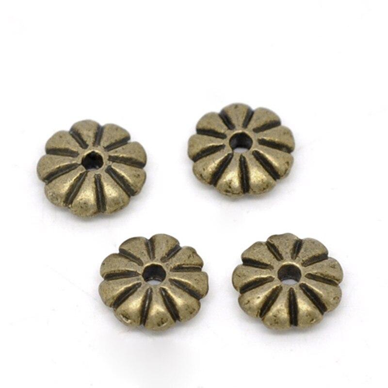 DoreenBeads, бисер из сплава, на основе цинка, в форме ромашек, античный, бронзовый цвет, ювелирных изделий, размер отверстия: Приблизительно 1,3 мм, 25 шт.|Бусины|   | АлиЭкспресс