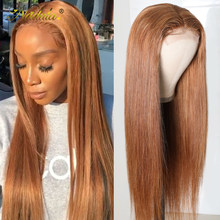 Perruque Lace Front Wig lisse naturelle – Nadula, cheveux humains, pre-plucked, 4x1 T, 20