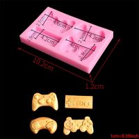 2pcs Game Controller Mold Silicone for Candy, Chocolate, Cake Decoration, Resin, Clay 85WC