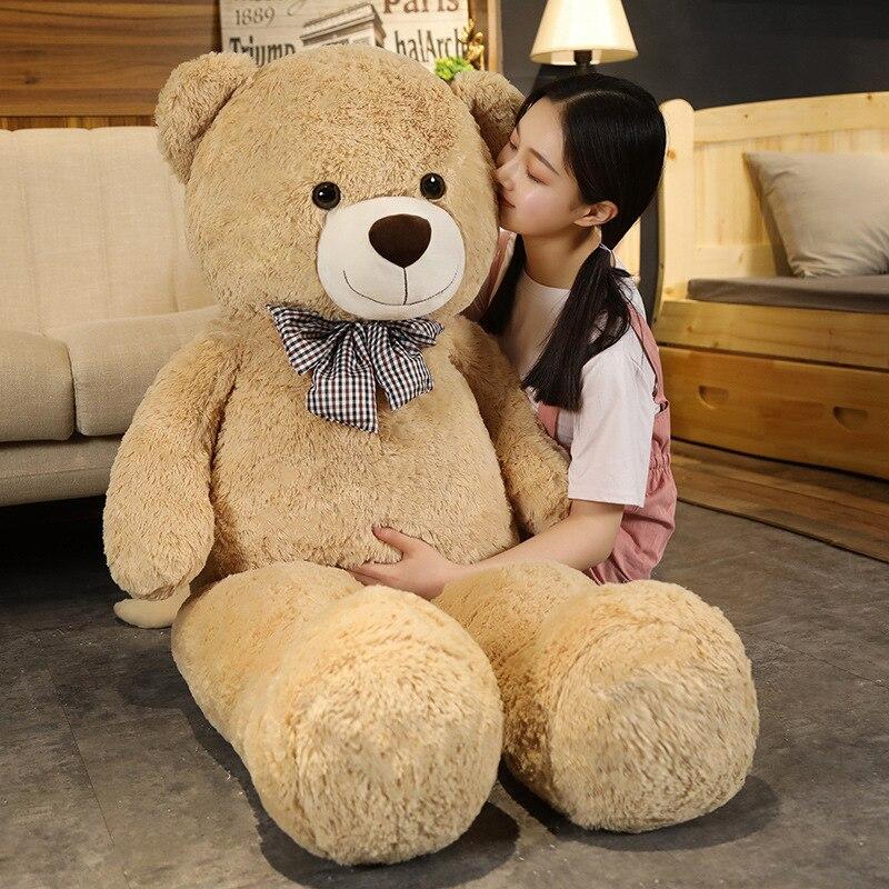 Высококачественный гигантский Американский медведь, плюшевая кукла, мягкое Мягкое Животное, плюшевый медведь, плюшевые игрушки для детей, ...