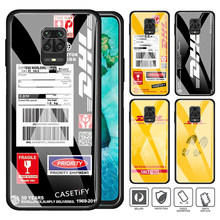 Telefon Fall für Xiaomi Redmi Hinweis 7 8 9 Pro 8T 9S 8A 9A 9C K20 K30 Pro gehärtetem Glas Hard Cover DHL express Fällen