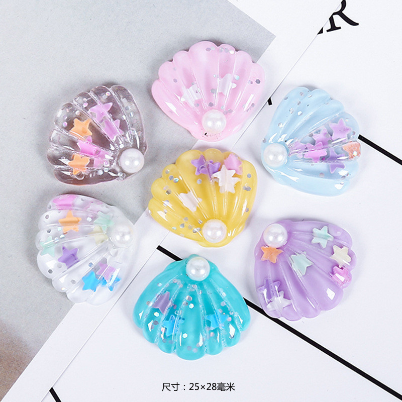 7pcs/bag Colorfor Pearl Shell Lizun Cloud Slime Supplies Polymer Clay Charms DIY Cream Gel Materials Creative Crafts Accessories