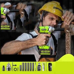 Беспроводной ударный гайковерт Электрический Крутящий ключ 2100нм электрический ключ с трещоткой