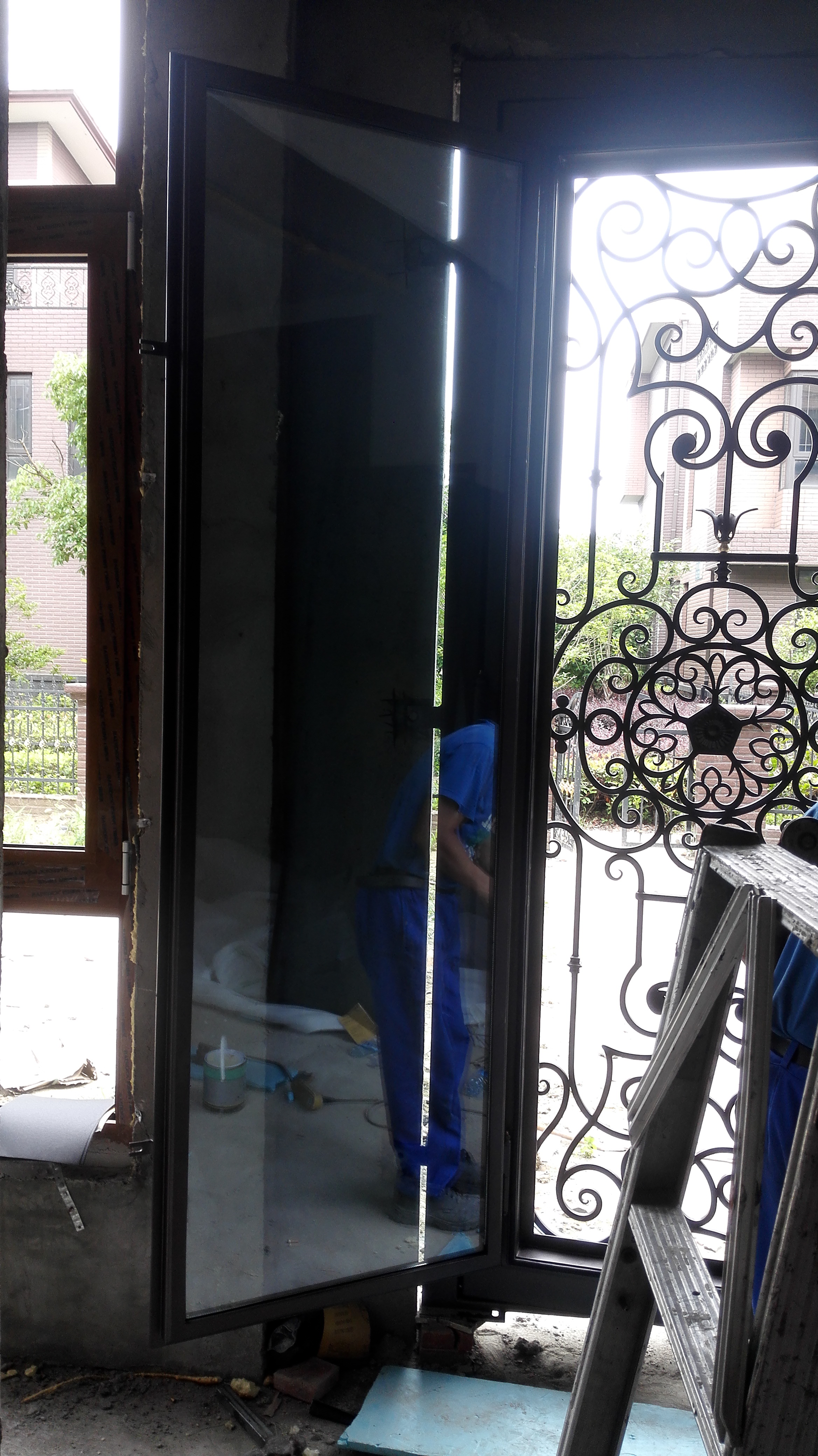 Shanghai Hench Brand China Factory 100% Custom Made Sale Australia Wrought Iron Sliding Door Track