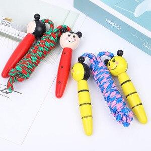 Corde à sauter pour enfants avec poignée en bois, pour musculation, Fitness, joli dessin animé, jouets de sports dextérieur pour enfants ZXH