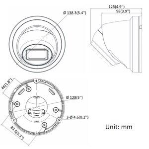 Image 3 - Оригинальная IP камера Hikvision, стандартная купольная IP камера безопасности 8 Мп, H.265, HD, CCTV, POE, WDR, камера с распознаванием лица, Darkfighter
