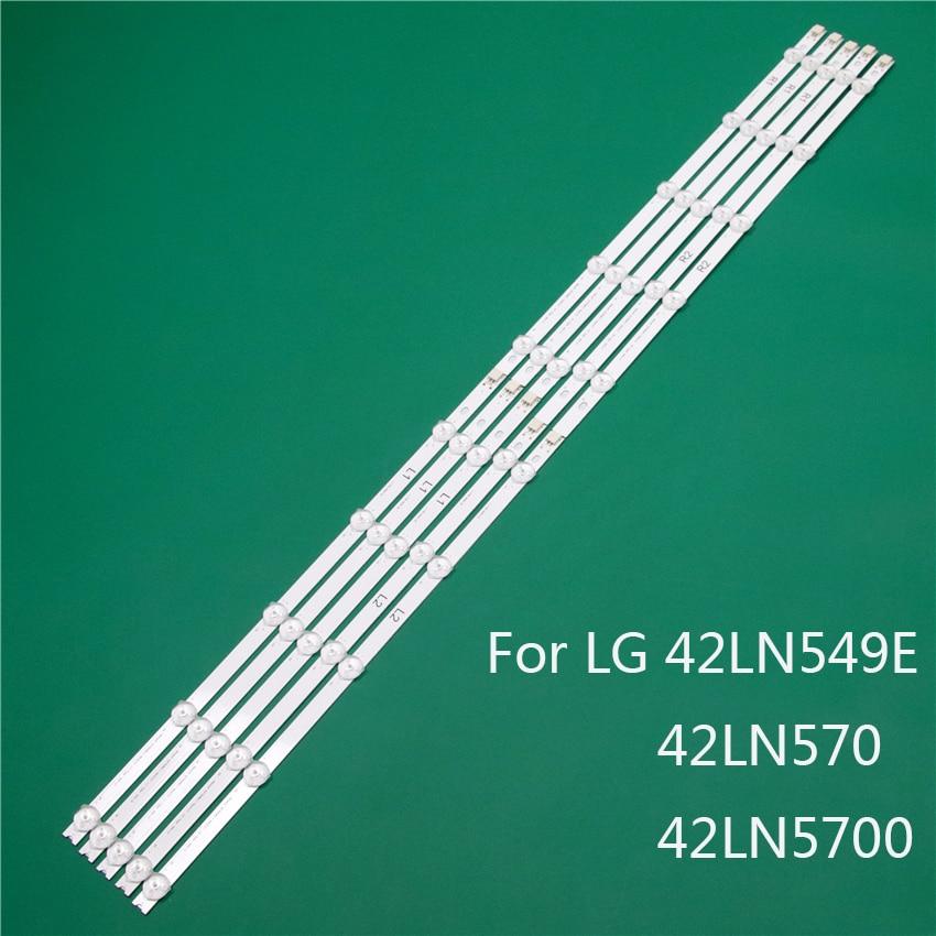 LED TV Illumination Part For LG 42LN549E 42LN570 42LN5700 LED Bars Backlight Strips Line Ruler 42