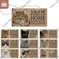 Putuo, декоративная доска для кошек, деревянный подвесной знак, милые деревянные знаки дружбы для домашних животных, декор для кошек, дома, Нас...
