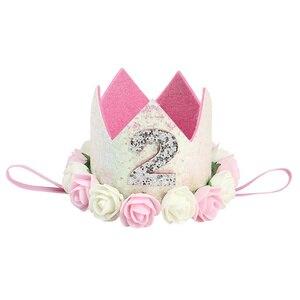 Hair Accessories For Girls Baby Flower Birthday Hat Children Party Crown Hat Creative Photo Crown Hair Band