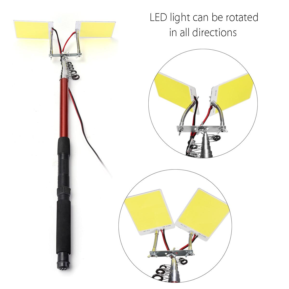 224 шт. светодиодный s COB 12 в светодиодный Телескопический удочка для рыбалки, уличный фонарь, походный светильник для путешествий или передвижной уличный светильник - Мощность в ваттах: M9x2 Adjustable