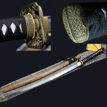 Knife Samurai-Sword Japanese Katana Mail Long Pattern-Steel Handmade Package Utility