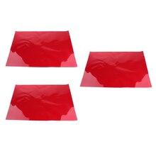 3x цвет корректирующий гель-фильтр накладки прозрачность цветная пленка пластиковые листы гелевые светофильтры темно-красный