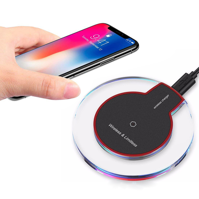 Wireless Charger Crystal Charging Receiver Pad Adapter For IPhone 11 Pro X XS MAX XR 8 For Andriod MicroType C Qi-Enabled Device