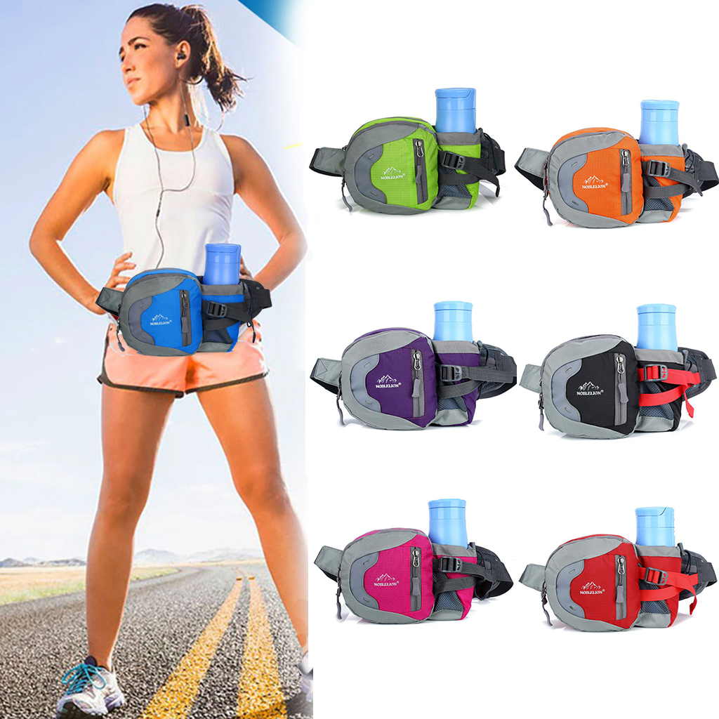 HobbyLane Outdoor Multifunctional Sports Waist Bag Oxford Cloth For Running Hiking With Water Bottle Holder Organizer