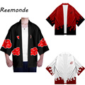 Anime Cosplay Costumes Robe Clothes Uzumaki Akatsuki Robe Haruno Sakura Costume Men Male Short Sleeve Coat Top Clothing