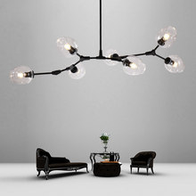 Vintage Loft Industrial Pendant Lights Black Gold Retro Pendant Lamps For Bar Stair Dining Room