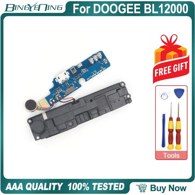 100% 新オリジナル doogee BL12000 usb ポート充電ボード usb ボードとバイブレーターラウドスピーカー修理交換部品