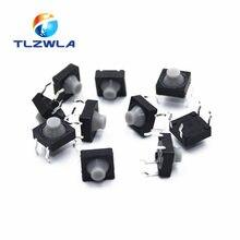 Bouton poussoir Tactile silencieux en Silicone, 20 pièces/lot, 4 broches, 8x8x5MM, Micro interrupteur, réinitialisation automatique