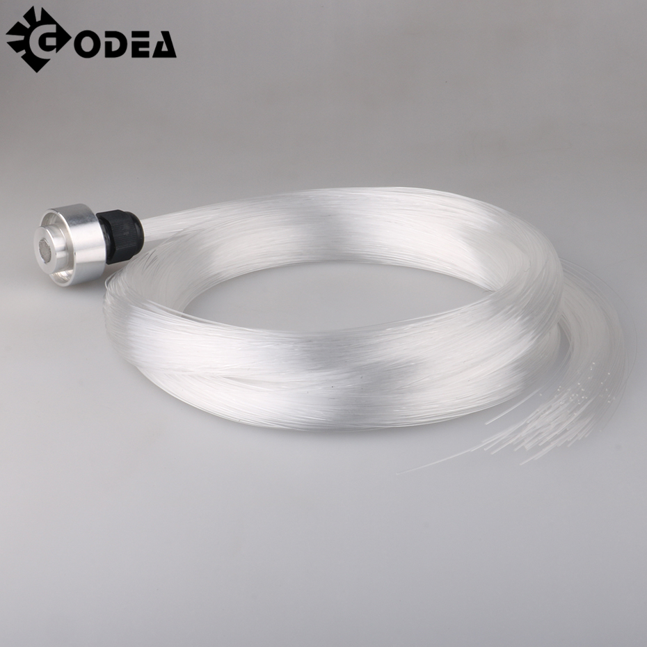 GODEA 0.75mm 5M 150pcs End Glow PMMA Plastic Optic Fiber Cable For Star Sky Ceiling All Kind LED Light Engine Driver