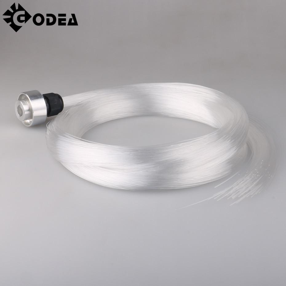 GODEA 0.75mm 5M 150pcs End Glow PMMA Plastic Optic Fiber Cable For Star Sky Ceiling All Kind LED Light Engine Driver