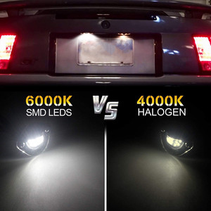 Image 5 - Ford Mustang 1994 2004 için LED plaka etiketi işık lisans çerçeve lamba tarafından desteklenmektedir 18 SMD elmas beyaz LED hata ücretsiz