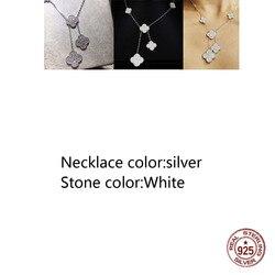 925 Sterling Zilveren Ketting Persoonlijkheid Mode Stijl 5 Klavertje Vier Midden Diamant High-End Vorm Nieuwe Sieraden vriendin