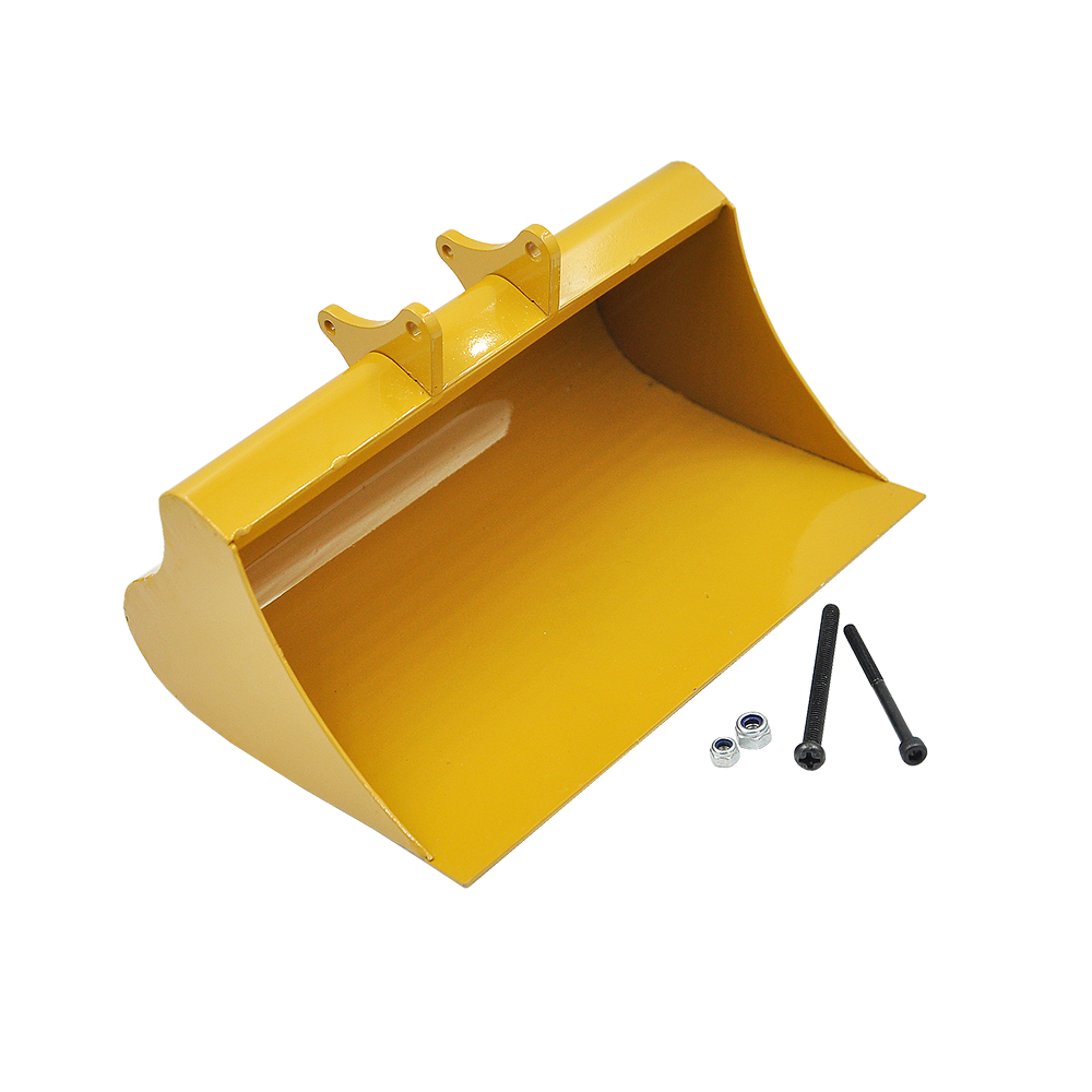 New Big Full Metal Shovel Bucket For Huina 580 23 Channel Excavator 1/14 RC Metal Excavator Spading Parts