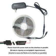 As luzes 5m 10m do rgb do diodo emissor de luz do infravermelho impermeável 20m stuitable iluminam o controlador + o adaptador de bluetooth