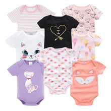 Kavkas Baby Girls Rompers roupa de bebes Newborn Jumpsuit Long Sleeve Cotton Pajamas 0-12 Months Christmas Clothes