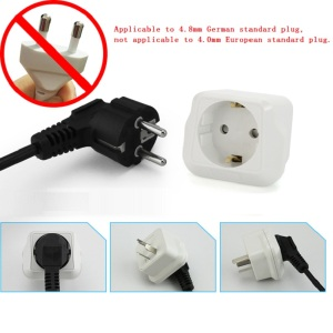 Image 4 - EU to CN plug Travel Power Adapter electric appliance adaptor German standard to China standard Converter Electrical Plug