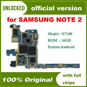 Europa wersja Unlocked amp 100 oryginalna płyta główna do Samsung Galaxy Note 2 N7100 płyta główna z chipsetem darmowa wysyłka tanie i dobre opinie HHXHH Wewnętrzny Apple iphone For Samsung Galaxy Note 2 N7100 Original Disassemble Unlocked and used Europe Version In Stock