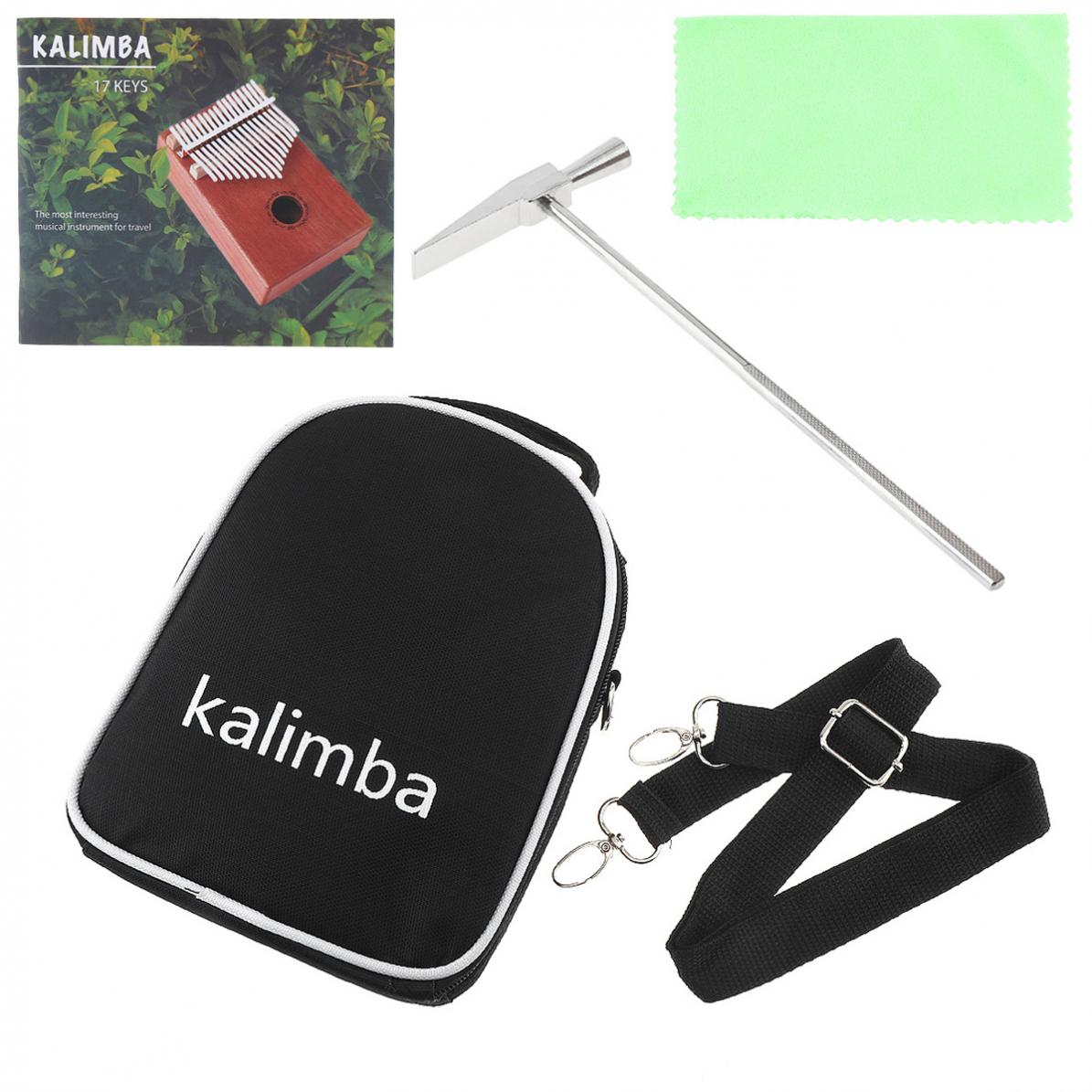 Купить с кэшбэком Thumb Piano 17 Keys Kalimba Single Board Mahogany Sakura Inlay Thumb Piano Set Mbira Mini Keyboard Instrument with Bag