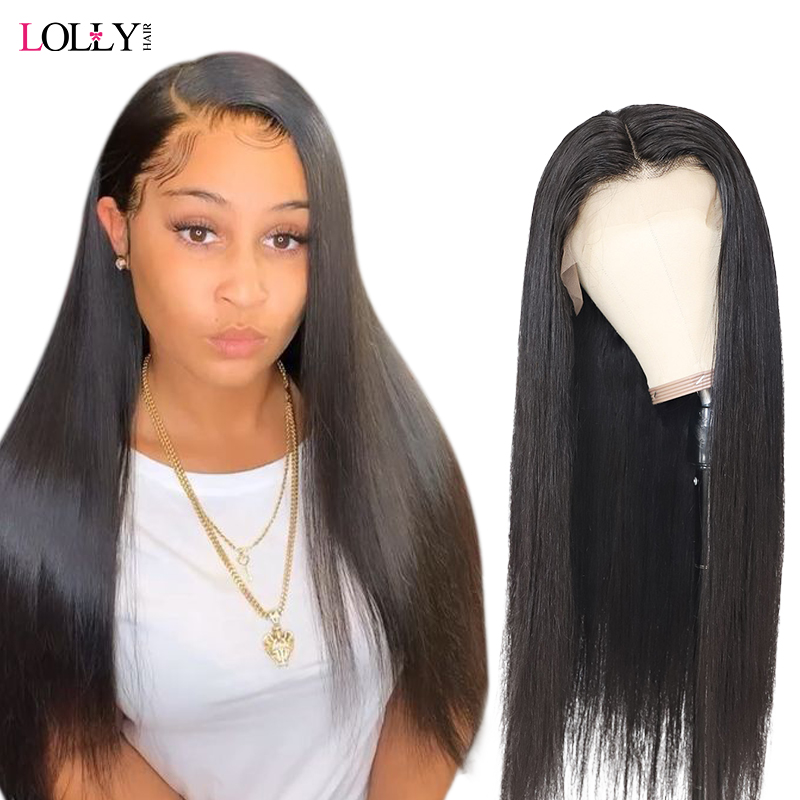Straight Glueless Human Lace Front Human Hair Wigs 250 Brazilian Transparent Fake Scalp Swiss Pre Plucked With Baby Hair Remy