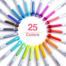 5 stücke Mild Farbe Highlighter Pen-Set Dual Seite Bold Feine Warme Kalten Freundliche Fluoreszierende Farben Marker Schriftzug Zeichnung A6782