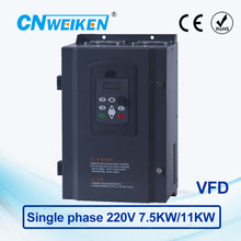 Vector Control frequency converter 7.5kw/11kw Single-phase 220V to Three-phase 220V VFD inverter Engine Frequency Controller ce 2 2kw 220v single phase to three phase ac inverter 400hz vfd variable frequency drive