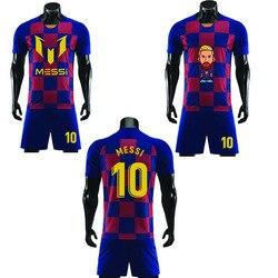 2020 г., футболка Месси 10 футболка с короткими рукавами «сделай сам» для мальчиков и девочек футболка с короткими рукавами в стиле хип-хоп Мужс...