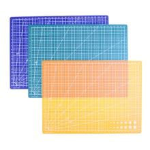 1pc 30*22cm Double Sided Gridd Cutting Mat  Non-Slip A4 Durable Self-healing Cut Pad Handmade Cutting Plate Dark School Supplies