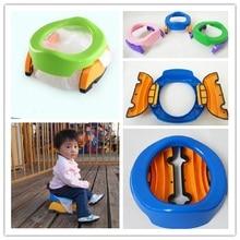 Портативная Детская уличная дорожные кастрюли для мальчиков и девочек, складная Туалетная раковина, горшок для путешествий, детский складывающийся горшок, детское обучающее сиденье для унитаза