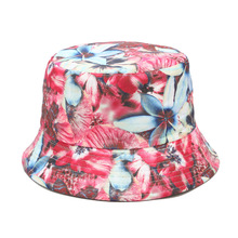 Весенняя новая стильная Двусторонняя Панама с цветочным принтом, рыбацкая шляпа, уличная шляпа для путешествий, шляпы от солнца для девушек и женщин 131