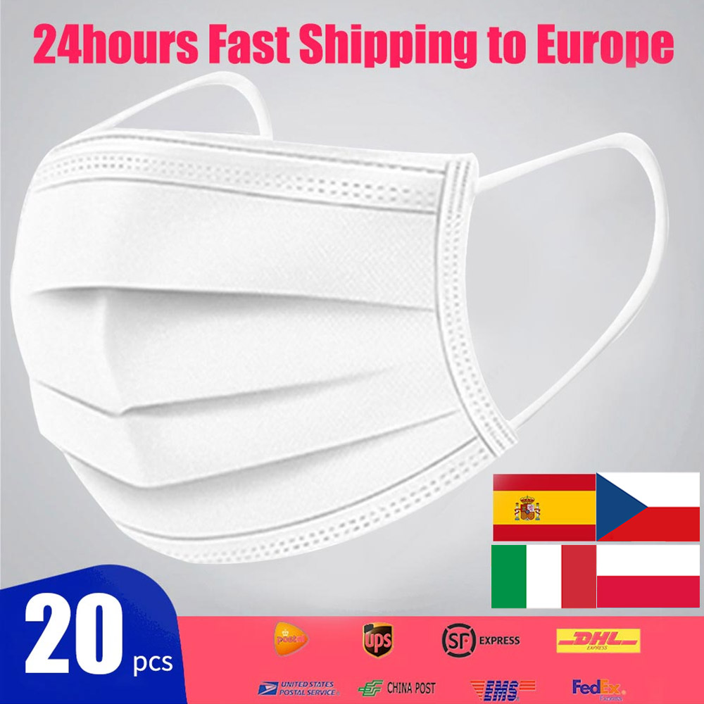 500/1000Pcs Disposable Anti Virus Mask Mascherine Anti-fog Mouth Mask Non N95 KF94 FFP2 Face Mask Facial Mask PM2.5 Respirator
