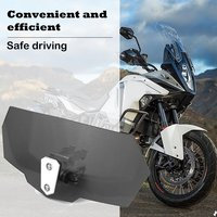 Motorcycle Universal Modified Heightened Universal Small Windshield Windshield Installed Small Windshield|Windscreens & Wind Deflectors|Automobiles & Motorcycles -