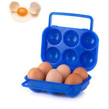 Przenośny 6 jaj plastikowy pojemnik uchwyt składany uchwyt skrzyni do przechowywania jaj Solid Color Sorage Box plastikowe narzędzia kuchenne 2021 tanie tanio CN (pochodzenie) Nowoczesne Z tworzywa sztucznego Storage Kitchen Organizers