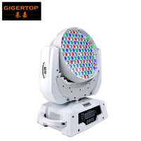 Free shipping 108 x 3W RGBW 4 Color Moving Head Wash Light,white case Big Power DMX 512 stage moving head light,led stage lamps