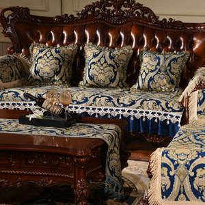Image 4 - מפואר כרית ספה ריפוד אירופאי חתך ספת כיסוי ספה כיסוי ספה הדו מושבית ריפוד
