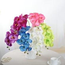 1 шт. 8 головок 70 см искусственный цветок фаленопсис латексный силикон реальный на ощупь большая Орхидея Свадебная имитация цветов рукодели...